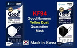 Premium KF94 Good Manner 4 Layer Mask Disposal face masks, Protective Facial Dust Masks of Individual Package for ADULT