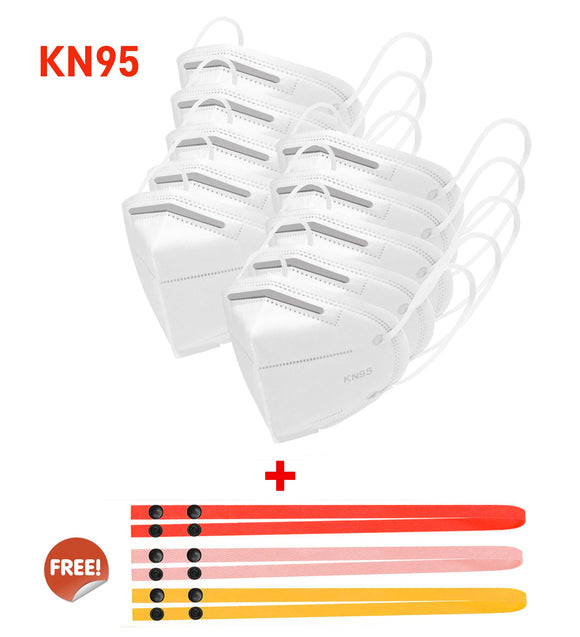 KN95 Air Purifying Respirator Mask Pack of 10 + 3 Pcs Free Mask Lanyard