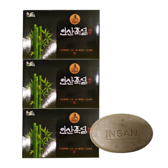 3 Pcs Bamboo Salt Soap 70g