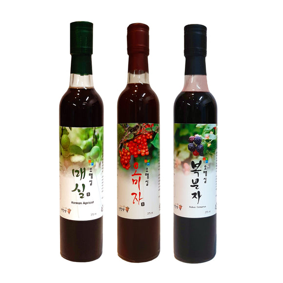 [2+1] Organic Fermented Extract 375ml-Green Plum/Schisandra/Black Raspberry-Buy 2 Get 1 Free