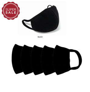 reusable mask covid19 mask cotton mask 3d mask 5 layers filter mask black mask