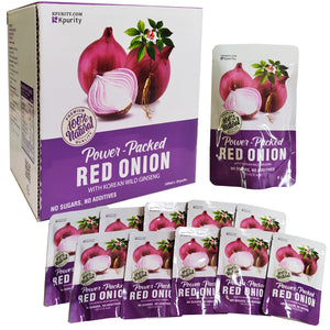 Korean Red Onion Extract Juice, 100% Natural Extract, No added Water (100ml x 10 pouches) - Free Shipping