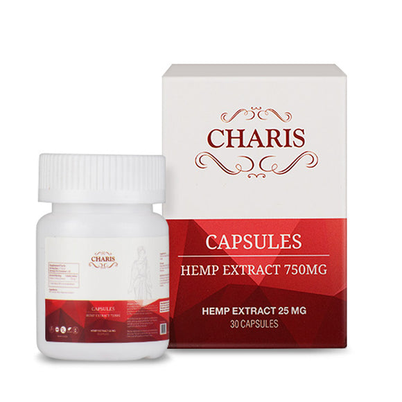CHARIS ALL DAY ENERGIZING HEMP EXTRACT CAPSULES 750MG