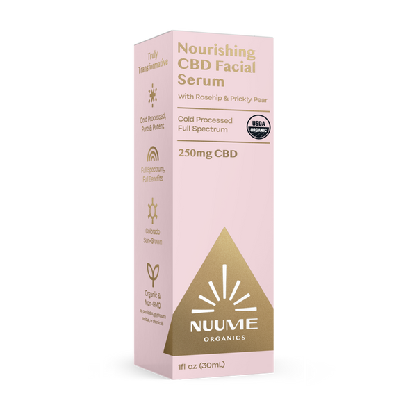 NUUME Nourishing CBD Facial Serum 250mg-Rosehip & Prickly Pear