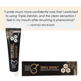 [1+1] 2pcs Triple Dental+ Bamboo Salt, Propolis, & Activated Charcoal Premium Natural Toothpaste 133g