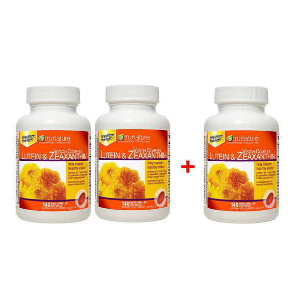 [2+1] 3 Bottles trunature Vision Complex Lutein & Zeaxanthin, 140 Softgels