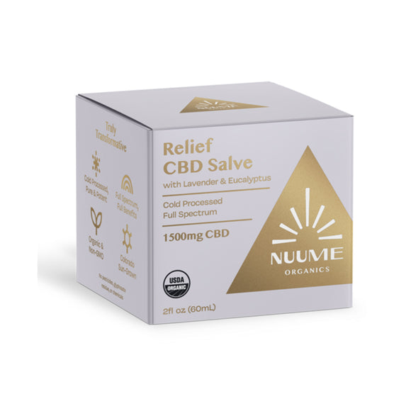 NUUME Relief CBD Salve Cream 1500mg-Extra Strength-Lavender & Eucalyptus