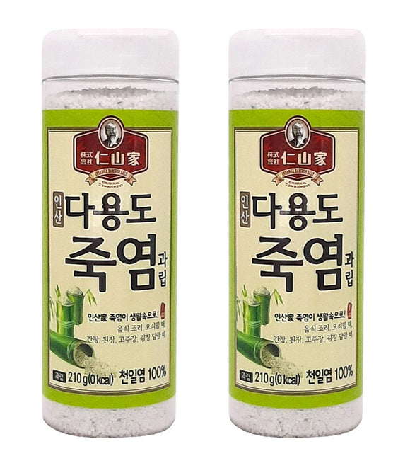 [ Holiday Gift Set ]  2 Pack of 1X Bamboo Salt 210g (Granule)