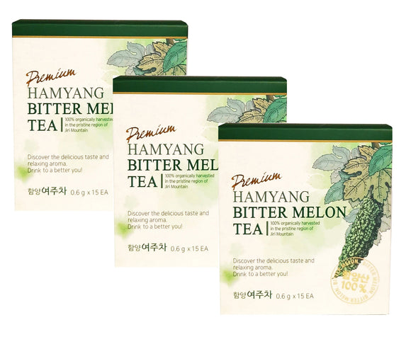 [ Holiday Gift Set ] 3 Pack of Hamyang 100% Organic Premium Bitter Melon Tea