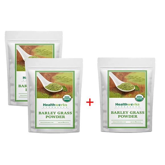 [2+1] Healthworks Barley Grass Powder 8 Ounces 3 Pack