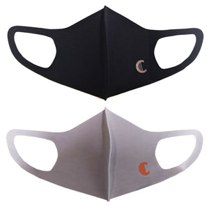 2pcs Copper Mask, 3D Anti Bacterial, Reusable, Washable Black (2) or Grey (2), Made in Korea