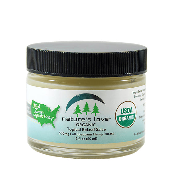 NATURES LOVE ORGANIC 500MG HEMP CREAM 60ML