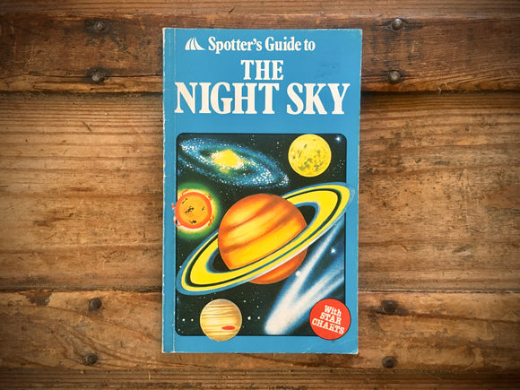 Spotter's Guide to the Night Sky, PB, Star Charts, Space, Science, Usborne, 1979