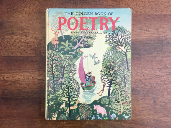 The Golden Book of Poetry: 85 Childhood Favorites, Vintage 1974, Illustrated, HC