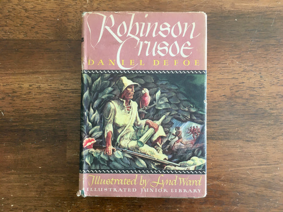 Robinson Crusoe by Daniel Defoe, Illustrated Junior Library, Vintage 1946