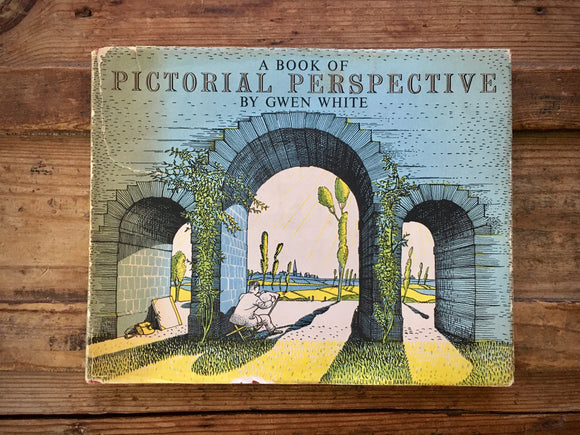 A Book of Pictorial Perspective, Gwen White, HC DJ, Art, Design, Vintage 1950s