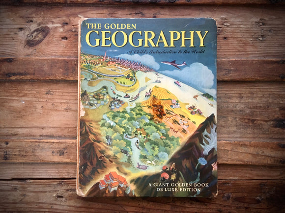 The Golden Geography Book, Giant De Luxe Edition, Maps, Illustrated, Large HC