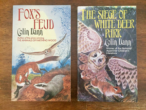 Fox's Feud + The Siege of White Deer Park by Colin Dann, Illustrated by Terry Riley, Vintage 1987