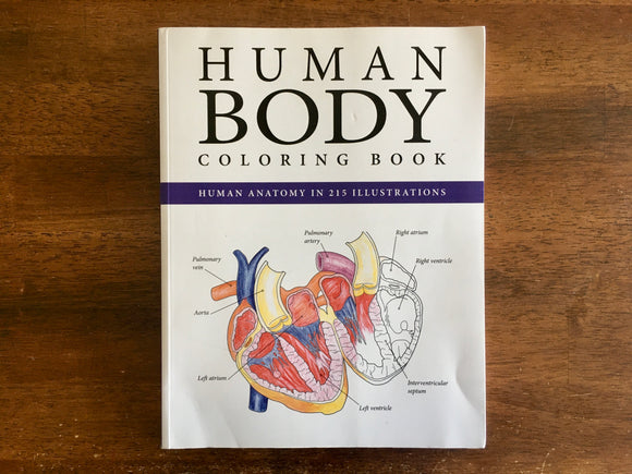 Human Body Coloring Book, Anatomy in 215 Illustrations, Science Activity