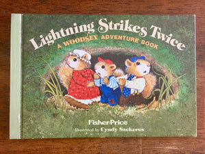 Lightning Strikes Twice, Hardcover Book, Vintage 1979, Illustrated