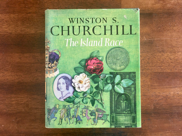 The Island Race by Winston S. Churchill, Vintage 1964, Hardcover Book with Dust Jacket