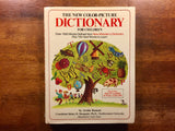The New Color-Picture Dictionary for Children by Archie Bennett, Illustrated by Nancy Sears, Vintage 1977, Hardcover Book with Dust Jacket