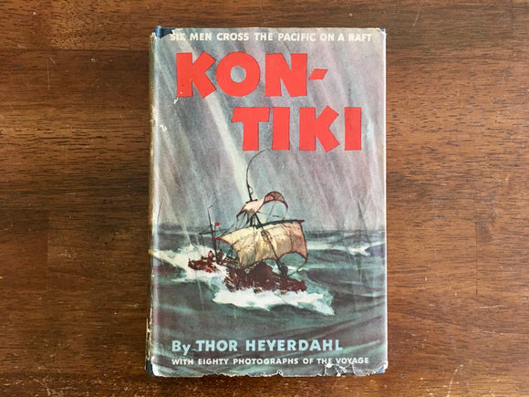 Kon-Tiki: Across the Pacific by Raft by Thor Heyerdahl, Vintage 1950, Translated by FH Lyon