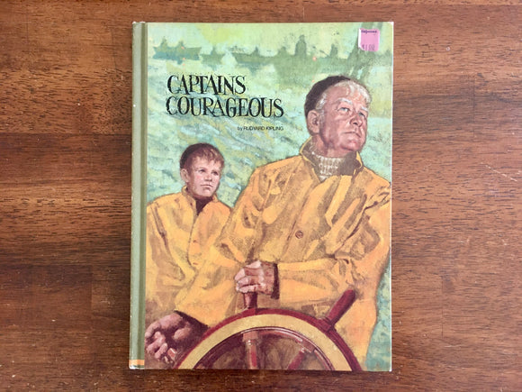 Captains Courageous by Rudyard Kipling, Illustrated by Dick Cole, Vintage 1969