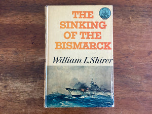 The Sinking of the Bismarck, World Landmark, Hardcover Book, Vintage 1962, Illustrated with Maps