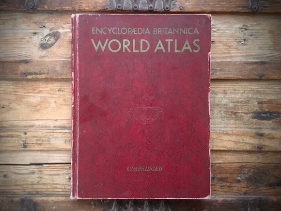 Encyclopaedia Britannica World Altas, Huge HC Book, Maps, 1959, Geography