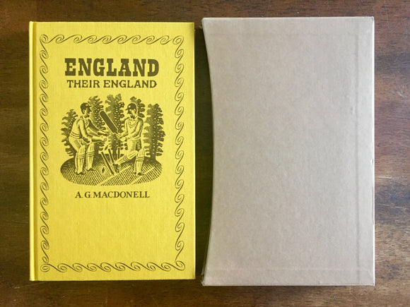 England, Their England by A.G. Macdonell, The Folio Society, Vintage 1986, Illustrated