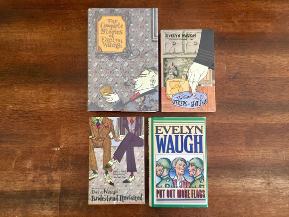 Evelyn Waugh books, LOT of 4