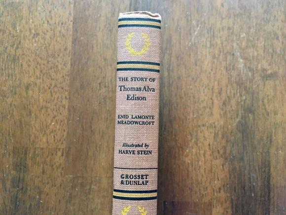Story of Thomas Alva Edison, Enid Lamonte Meadowcroft, Signature Book, 1952