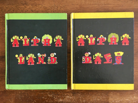 Alpha One Series Book A Land and B Days, Letter People, 1970s, Reading, Phonics
