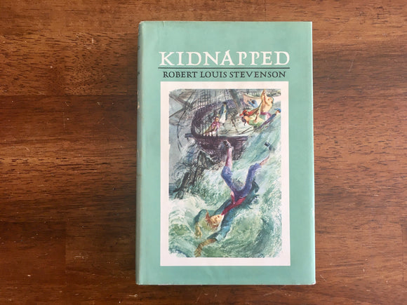 Kidnapped by Robert Louis Stevenson, Vintage 1954, Junior Deluxe Edition, HC DJ