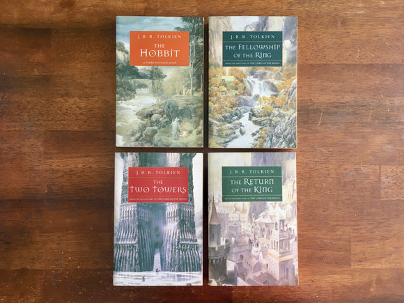 The Hobbit and The Lord of the Rings by J.R.R. Tolkien, 4-Book Set in Slipcase