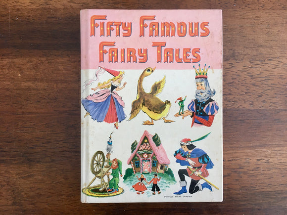 Fifty Famous Fairy Tales, Illustrated by Bruno Frost, Vintage 1946, Whitman Publishing, Hardcover Book