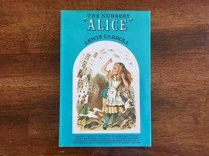 The Nursery Alice by Lewis Carroll, Vintage 1966, First Hardcover Publication, Illustrated by Tenniel, Introduction by Martin Gardner