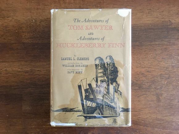 The Adventures of Tom Sawyer and of Huckleberry Finn, Vintage 1953, HC DJ
