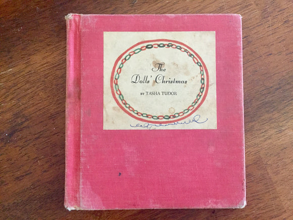 The Doll's Christmas by Tasha Tudor, Hardcover Book, Vintage 1950, Illustrated
