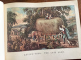 Currier and Ives' America, Eighty Prints in Full Color, Vintage 1952, Oversized Hardcover Book