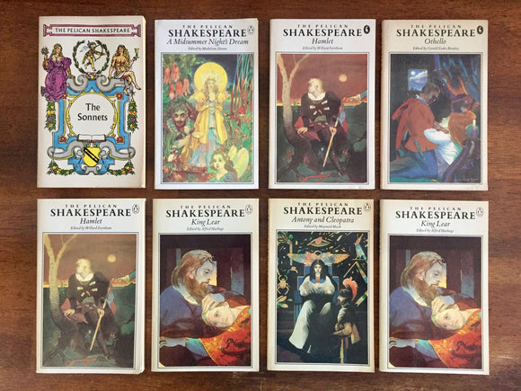 The Pelican Shakespeare, 8-book LOT