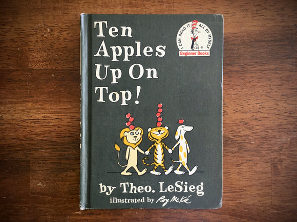 Ten Apples Up On Top by Theo LeSieg, Vintage 1961, HC, Dr Seuss