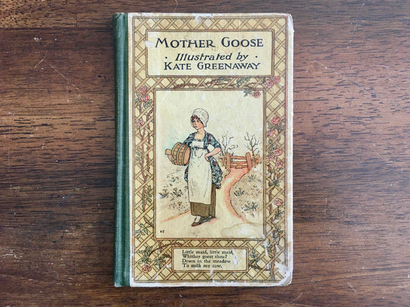Mother Goose, Illustrated by Kate Greenaway, Antique, Nursery Rhymes, Poems