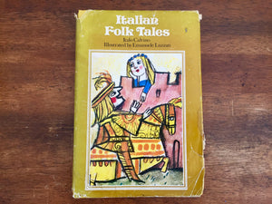 Italian Folktales by Italo Calvino, Hardcover Book w/ Dust Jacket, Vintage 1975, Illustrated