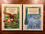 The Chronicles of Narnia, The Magician's Nephew & The Lion, the Witch and the Wardrobe by C.S. Lewis, Full-Color Gift Edition Set, Unabridged, Hardcover, Illustrated by Pauline Baynes