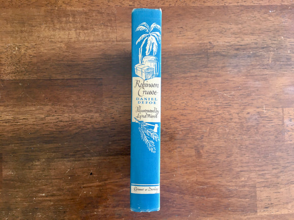 Robinson Crusoe by Daniel Defoe, Illustrated Junior Library, Lynd Ward, Vintage 1946