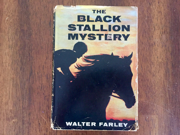 The Black Stallion Mystery by Walter Farley, Hardcover Book w/ Dust Jacket, Vintage 1957, Illustrated