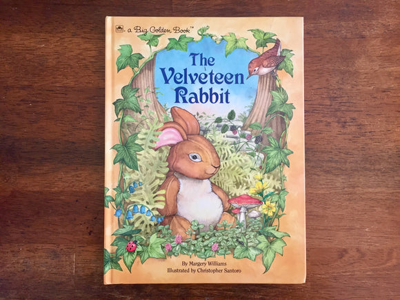 The Velveteen Rabbit by Margery Williams, A Big Golden Book, Hardcover Book, Illustrated