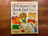 Richard Scarry's Best Rainy Day Book Ever: More Than 500 Things to Color and Make, Vintage 1983, Illustrated Activity Book